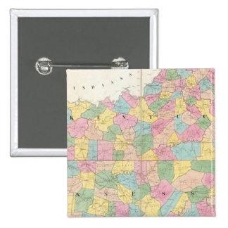 Mapa de Kentucky y de Tennessee Pin Cuadrado