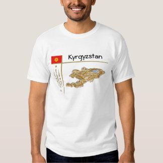 Mapa de Kirguistán + Bandera + Camiseta del título Remera