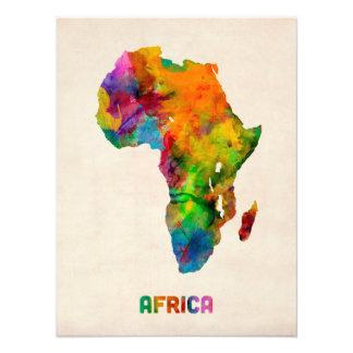Mapa de la acuarela de África Fotografía