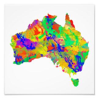 Mapa de la acuarela de Australia Fotografía