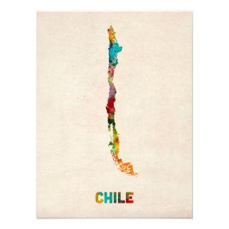 Mapa de la acuarela de Chile Cojinete