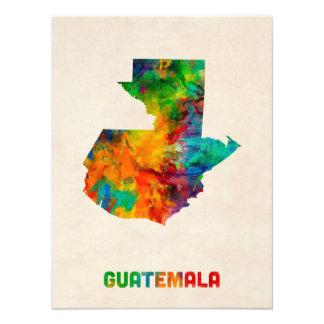 Mapa de la acuarela de Guatemala Fotografía