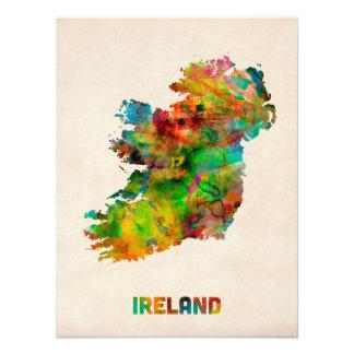 Mapa de la acuarela de Irlanda Eire Fotografía