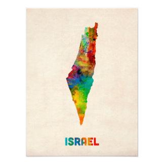 Mapa de la acuarela de Israel Fotografías