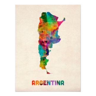 Mapa de la acuarela de la Argentina Fotografías