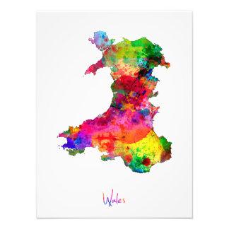 Mapa de la acuarela de País de Gales Fotografía