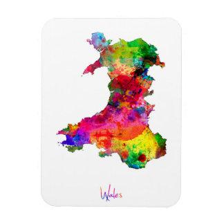 Mapa de la acuarela de País de Gales Imanes Flexibles