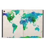 Mapa de la acuarela del mapa del mundo