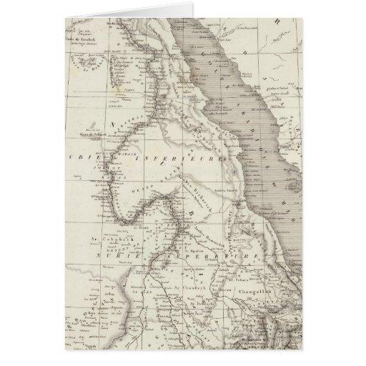 Mapa de la África del Este Felicitacion