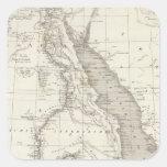 Mapa de la África del Este Pegatina Cuadrada