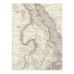 Mapa de la África del Este Postal
