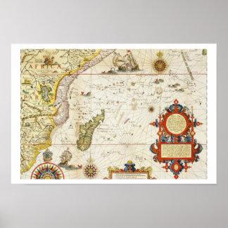 Mapa de la África del Este y de Madagascar, 1596 ( Impresiones