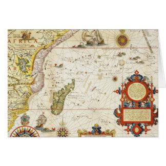 Mapa de la África del Este y de Madagascar, 1596 ( Tarjeta De Felicitación