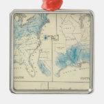 Mapa de la agricultura y de la riqueza por colores adornos de navidad