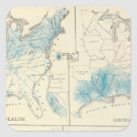 Mapa de la agricultura y de la riqueza por colores colcomanias cuadradases