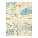 Mapa de la agricultura y de la riqueza por colores postal