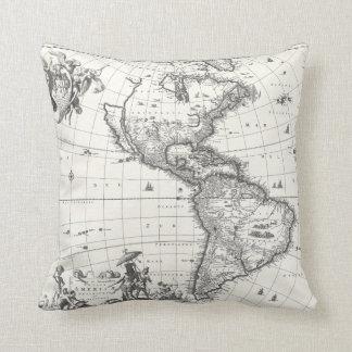 Mapa de la almohada de Américas 1669