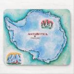Mapa de la Antártida Alfombrillas De Ratón