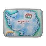 Mapa de la Antártida Funda Para Macbook Air