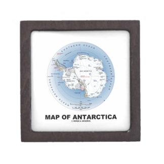 Mapa de la Antártida geografía Cajas De Regalo De Calidad
