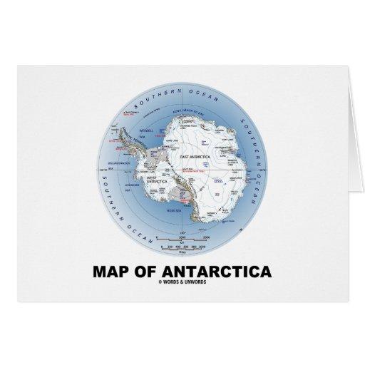 Mapa de la Antártida (geografía) Tarjeta De Felicitación