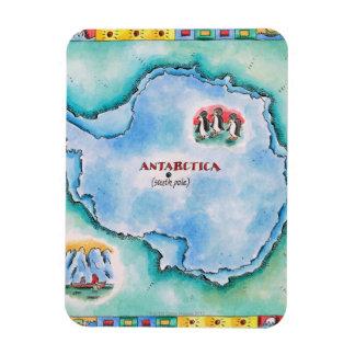 Mapa de la Antártida Iman Flexible