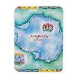 Mapa de la Antártida Imanes Flexibles