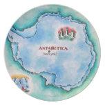 Mapa de la Antártida Platos De Comidas