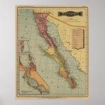 Mapa de la antigüedad de Baja California Posters