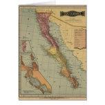 Mapa de la antigüedad de Baja California Tarjeta De Felicitación
