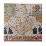 Mapa de la antigüedad de Cambridge Azulejo Cerámica