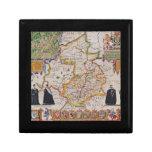 Mapa de la antigüedad de Cambridge Caja De Recuerdo
