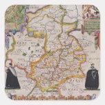 Mapa de la antigüedad de Cambridge Pegatina Cuadrada