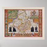 Mapa de la antigüedad de Cambridge Poster