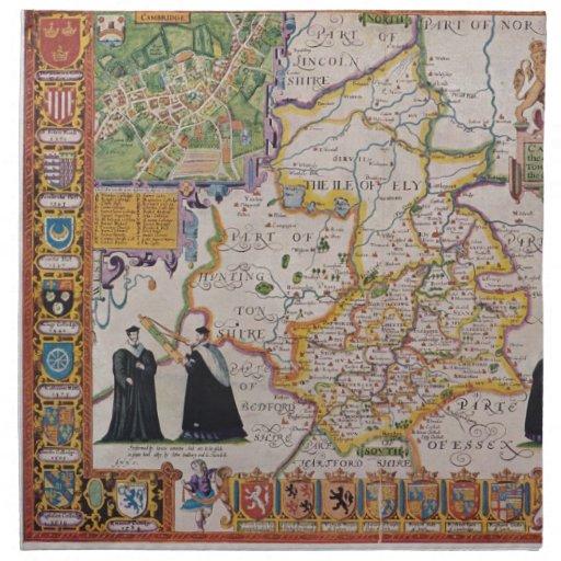 Mapa de la antigüedad de Cambridge Servilleta De Papel