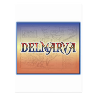 Mapa de la antigüedad de DelMarVa Postal