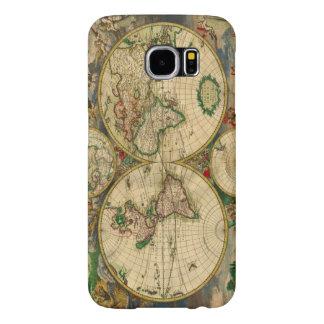 Mapa de la antigüedad de los mapas de Viejo Mundo Fundas Samsung Galaxy S6