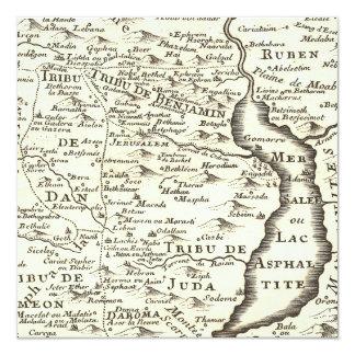 """Mapa de la antigüedad de Mitzvah de la barra, Invitación 5.25"""" X 5.25"""""""