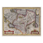 Mapa de la antigüedad de Tatary de Asia central y  Poster