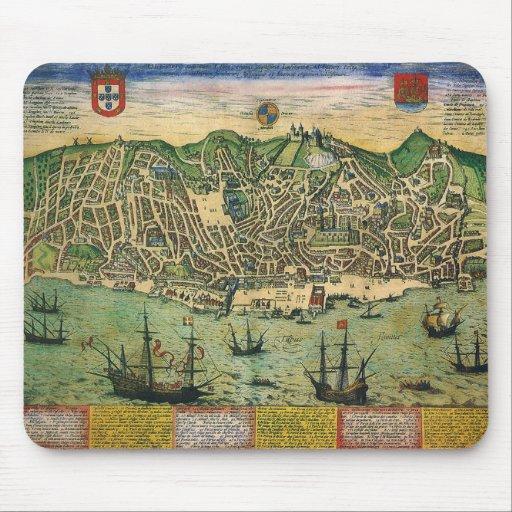 Mapa de la antigüedad del vintage; Plan de ciudad Mousepad