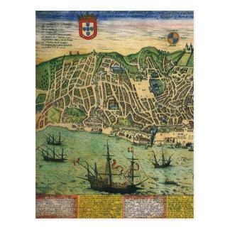 Mapa de la antigüedad del vintage Plan de ciudad