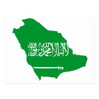 mapa de la Arabia Saudita Tarjetas Postales