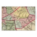 Mapa de la arcilla, Webster, Nicholas, condados de Tarjeta