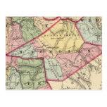 Mapa de la arcilla, Webster, Nicholas, condados de Tarjetas Postales