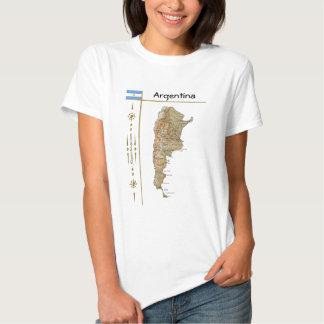 Mapa de la Argentina + Bandera + Camiseta del Playera