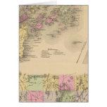 Mapa de la bahía de Casco Felicitación