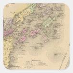 Mapa de la bahía de Casco Pegatina Cuadrada