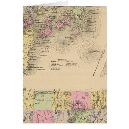 Mapa de la bahía de Casco Tarjeta De Felicitación