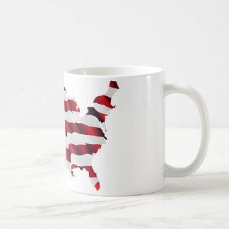 Mapa de la bandera americana de América Taza De Café