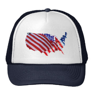 Mapa de la bandera americana gorra
